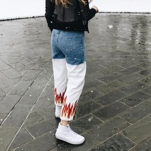 LF Two-Tone Flame Jeans